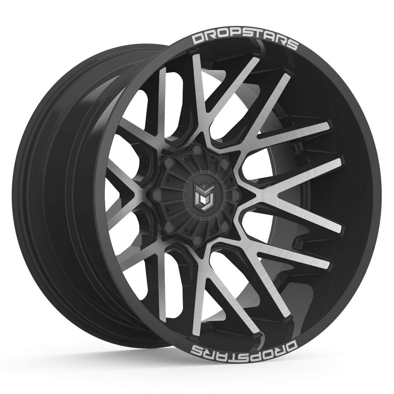 25 års rim Dropstars 654MB 20x10 8x6.5 8x165.1 Black Machine  25 Wheels Rims  25 års rim