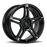 Focal F-51 18x8 5x108 5x115 Black Milled 40 Wheels Rims | 451-8815BM+40