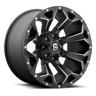 Fuel Assault 20x9 5x4.5 5x114.3 5x120 Black Milled 35 Wheels Rims | D54620905263
