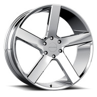 Milanni Switchback 22x9.5 6x5.5 6x139.7 Chrome 15 Wheels Rims | 472-22984C15