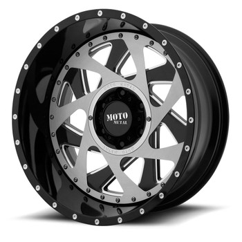 Moto Metal MO989 Change Up 20x12 8x6.5 8x165.1 Black w/ Brushed Insert -44 Wheels Rims | MO98921280344N