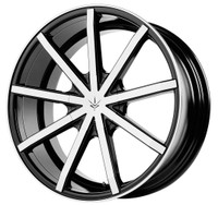 Verde ® Contra Wheels Rims 20x10 Blanks (Custom Drilled BP) Black Machine 42mm | V69-210042B
