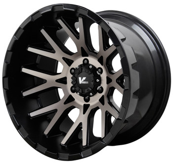 V Rock ® Recoil Wheels Rims 20x12 5x127 (5x5) Black Machine Tint -44mm | VR10-217344B