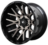 V Rock ® Recoil Wheels Rims 20x12 5x5.5 (5x139.7) Black Machine Tint -44mm | VR10-218544B