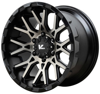 V Rock ® Recoil Wheels Rims 20x9.5 5x5.5 (5x139.7) Black Machine Tint 0mm | VR10-29850B