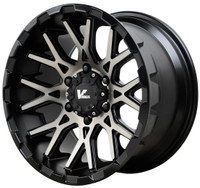 V Rock ® Recoil Wheels Rims 20x9.5 6x5.5 (6x139.7) Black Machine Tint 15mm | VR10-295815B
