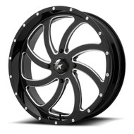 MSA Offroad UTV M36 Switch 22x7 Black Milled Wheels Rims 4x156 0 | M36-022756M