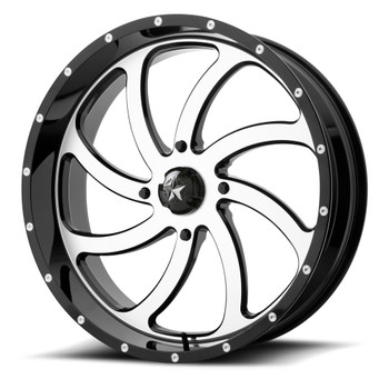 MSA Offroad UTV M36 Switch 22x7 Machine Black Wheels Rims 4x156 0 | M36-022756
