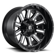 Fuel ® Hardline Wheels Rims 22x12 5x5.5 (5x139.7) & 5x150 Black Milled -44mm | D62022207047