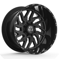 TIS ® 544BM Wheels Rims 22x12 5x127 (5x5) & 5x5.5 (5x139.7) Black Milled -44mm | 544BM-2220944