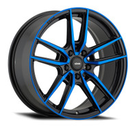 Konig ® Myth Wheels Rims 17x8 5x100 Black w/ Blue Tint 43mm | 55BB-MY8751043F