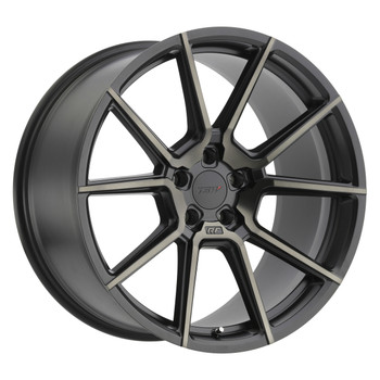 TSW ® Chrono Wheels Rims 17x8 5x108 Black Mach Dark Tint 40mm | 1780CRN405108M72