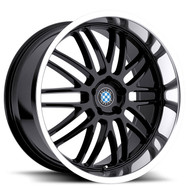 Beyern ® Mesh Wheels Rims 17x8 5x120 Gloss Black W/ Mirror Cut Lip 15mm | 1780BYM155120B72