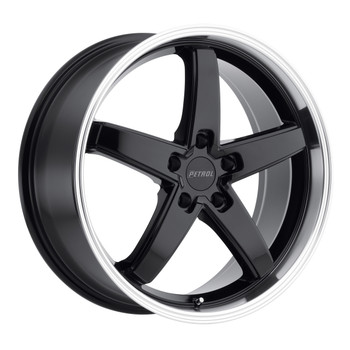 Petrol ® P1B Wheels Rims 18x8 5x120 Gloss Black Mach Lip 35mm | 1880P1B355120B76