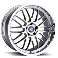Beyern ® Mesh Wheels Rims 18x8.5 5x120 Chrome 15mm | 1885BYM155120C72