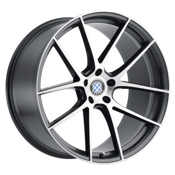 Beyern ® Ritz Wheels Rims 19x9 5x120 Gunmetal Machine 15mm | 1990BFT155120G72