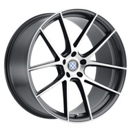 Beyern ® Ritz Wheels Rims 19x9.5 5x120 Gunmetal Machine 35mm | 1995BFT355120G72