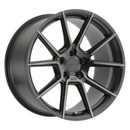 TSW ® Chrono Wheels Rims 18x8.5 5X4.5 (5X114.3) Black Mach Dark Tint 20mm | 1885CRN205114M76