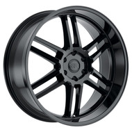 Black Rhino ® Katavi Wheels Rims 22x10 5X4.5 (5X114.3) Gloss Black 30mm | 2210KTV305114B76