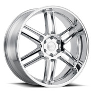 Black Rhino ® Katavi Wheels Rims 22x10 5X4.5 (5X114.3) Chrome 30mm | 2210KTV305114C76