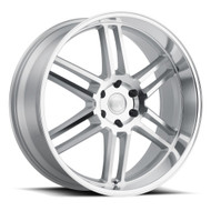 Black Rhino ® Katavi Wheels Rims 22x10 5X4.5 (5X114.3) Silver 30mm | 2210KTV305114S76