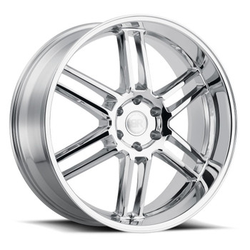 Black Rhino ® Katavi Wheels Rims 22x10 5x5.5 (5x139.7) Chrome 20mm | 2210KTV205140C78