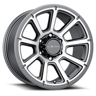 Vision ® Turbine 353 Wheels Rims 17x8.5 6x5.5 (6x139.7) Gunmetal Machined 18mm | 353-7883GMMF18