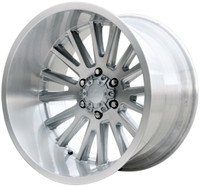 V Rock ® Anvil Wheels Rims 20x12 6x5.5 (6x139.7) Brushed Aluminum -44mm | VR11-215844BR