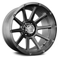 V Rock Tactical VR13 Wheel 22x12 8x180 Brushed w/ Dark Tint -44mm -FREE LUGS