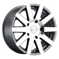 Black Rhino® Journey Wheels Rims 17x7.5 6x5.5 (6x139.7) Machine Gunmetal 35 | 1775JRN356140G12
