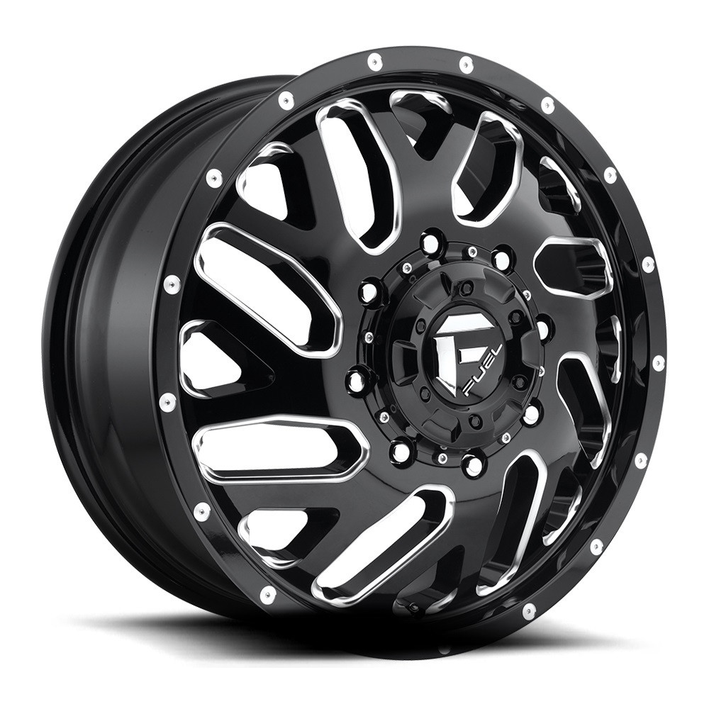 Fuel Dually Wheels >> Fuel Triton Dually Wheel 22x8 25 8x210 Black Milled 105mm In Cart Discount