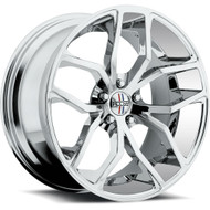 Foose Outkast Wheels 20x10 5x4.5 (5x114.3) Chrome 40mm | F148200065+40