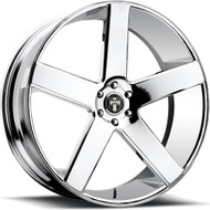 DUB Baller Wheels 22x8.5 5x4.5 (5x114.3) Chrome 38mm | S115228565+38