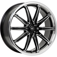 ICW Racing Tsunami 214MB Wheels 18x7.5 5x100 & 5x4.5 Black Machine 42mm | 214MB-8751842