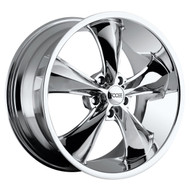 Foose Legend Wheels 18x9.5 5x4.5 (5x114.3) Chrome 34mm | F105189566+34