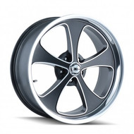Ridler 645 Wheels 18x8 5x5.5 Black Machine 0mm | 645-8885MBP
