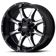 Moto Metal MO970 16x8 Blank Black 0mm | MO97068000300