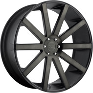 DUB Shot Calla Wheels 22x9.5 5x115 Black Dark Machine 10mm | S121229590+12