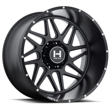 Hostile Sprocket Asphalt Wheels 20x9 8x180 Satin Black 0mm | H108-2090818050BB