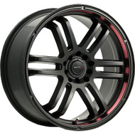 Drifz 207B Fx Wheels 18x8 5x4.5 & 5x120 Carbon Black Red 35mm | 207B-8805735
