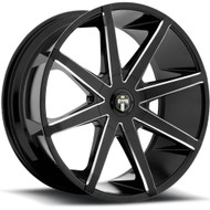 DUB Push Wheels 20x8.5 5x115 & 5x4.75 (5x120.65) Black 10mm | S109208506+10