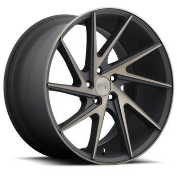Niche Invert M163 Wheels 20x10.5 5x4.5 Black Machine 30mm | M163200565+30R