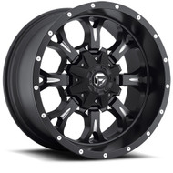 "FUEL KRANK D517 WHEELS 17X9 5X4.5"" ( 5X114.3 ) & 5X127 -12MM BLACK 