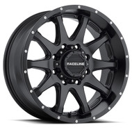 Raceline Shift Black Wheels Rims 18x9 8x6.5 (8x165.1)  -12 | 930B-89080-12