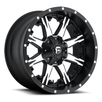 FUEL NUTZ D541 WHEELS 20X10 8X170 -24MM BLACK MACHINED | D54120001745