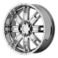 "HELO HE835 Wheels 17X8 8X6.5"" ( 8X165.1 ) Chrome +0 