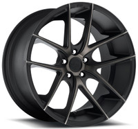 Niche Targa M130 Wheels 22x10.5 5x120 Black Machine 40mm | M130220521+40
