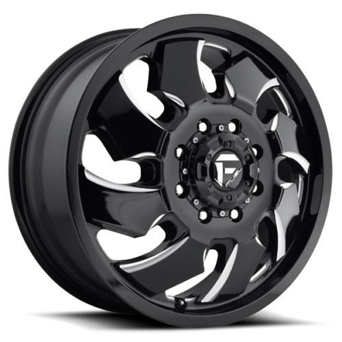 Fuel Cleaver Dually 2 Piece Wheels 24x8 25 8x6 5 Black 121mm