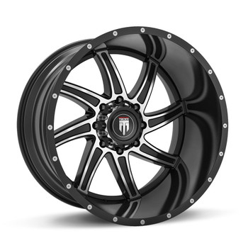 American Truxx ® Vortex At162 Wheel 20X10 Black Machined 8X180 -24mm | AT162-21097BM