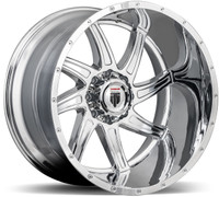 American Truxx ® Vortex At162 Wheel 24X14 Chrome 8X6.5 (8X165.1) -76mm | AT162-241491C